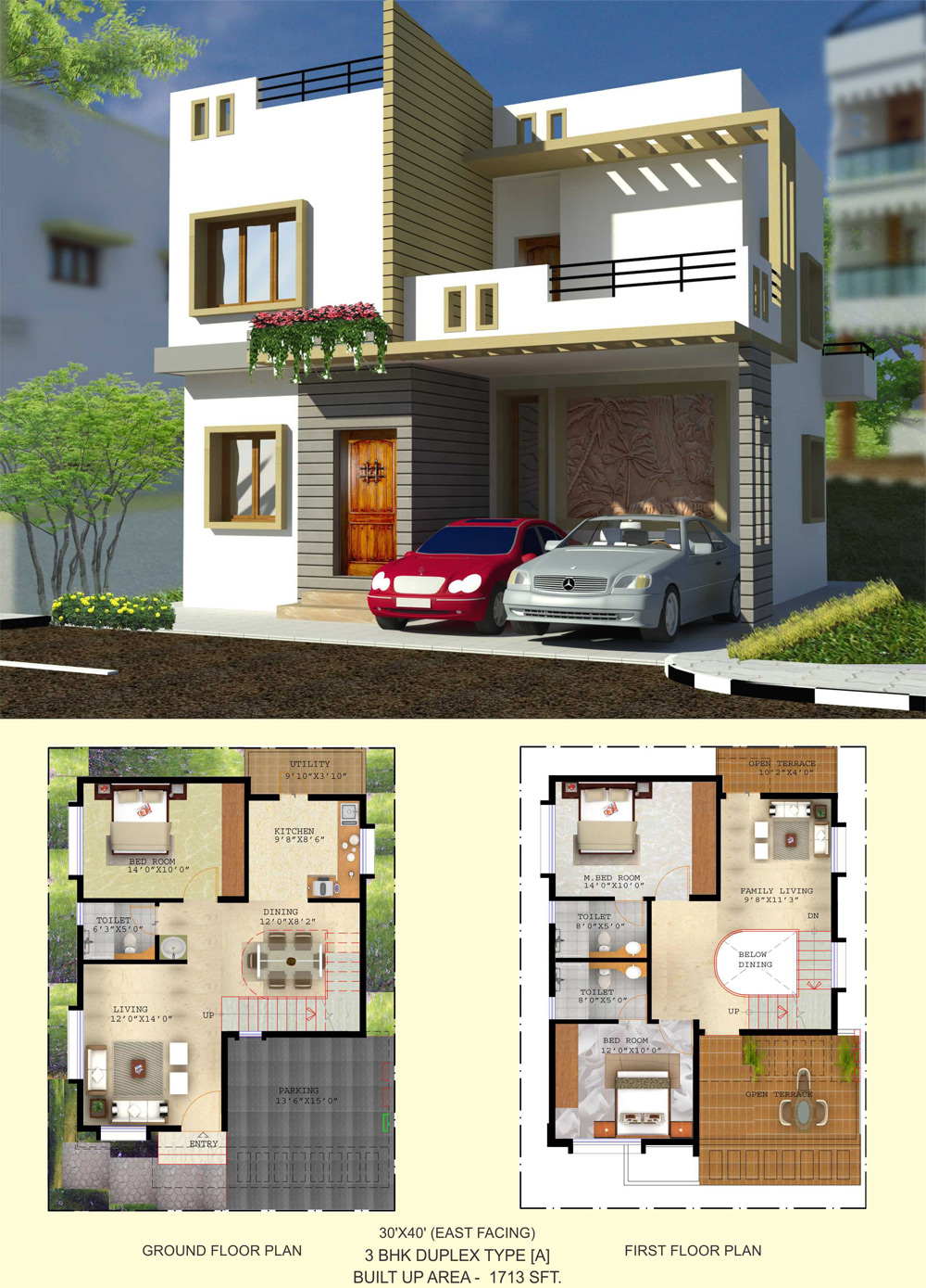 Duplex house plans 30x40 escortsea for 30x50 duplex house plans